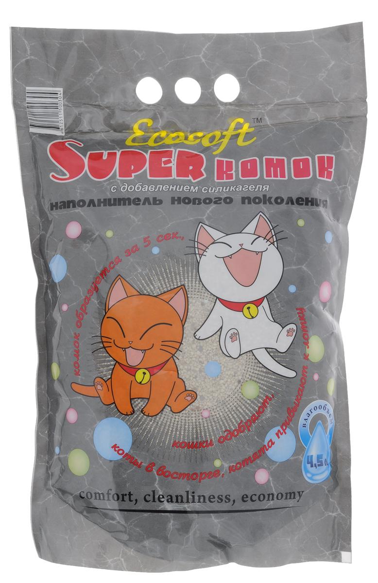 """Наполнитель для кошачьего туалета Экософт """"Супер комок"""", 4,5 л 000000144"""
