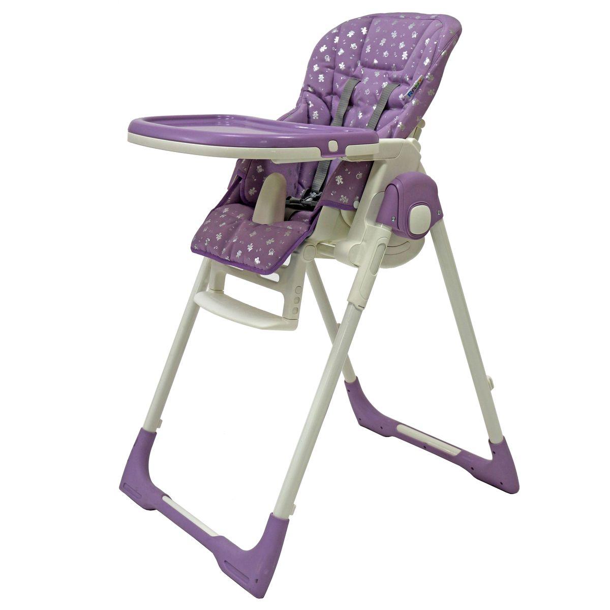 Rant Стульчик для кормления Crystal Fabric цвет фиолетовый