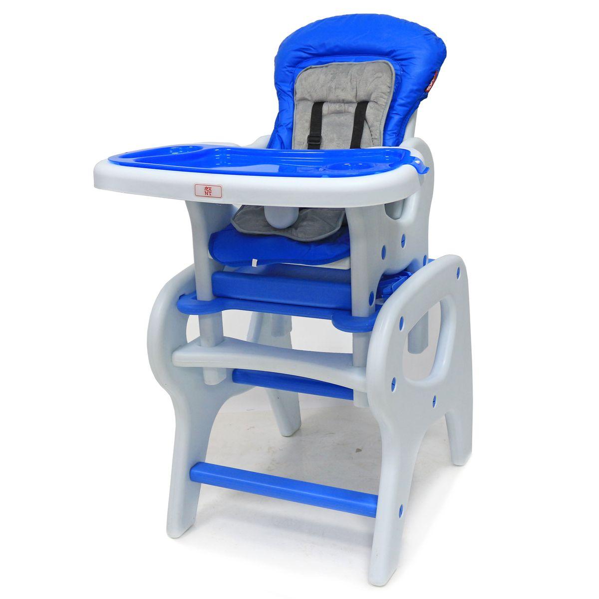 Rant Стульчик для кормления комбинированный детский Maxim цвет голубой