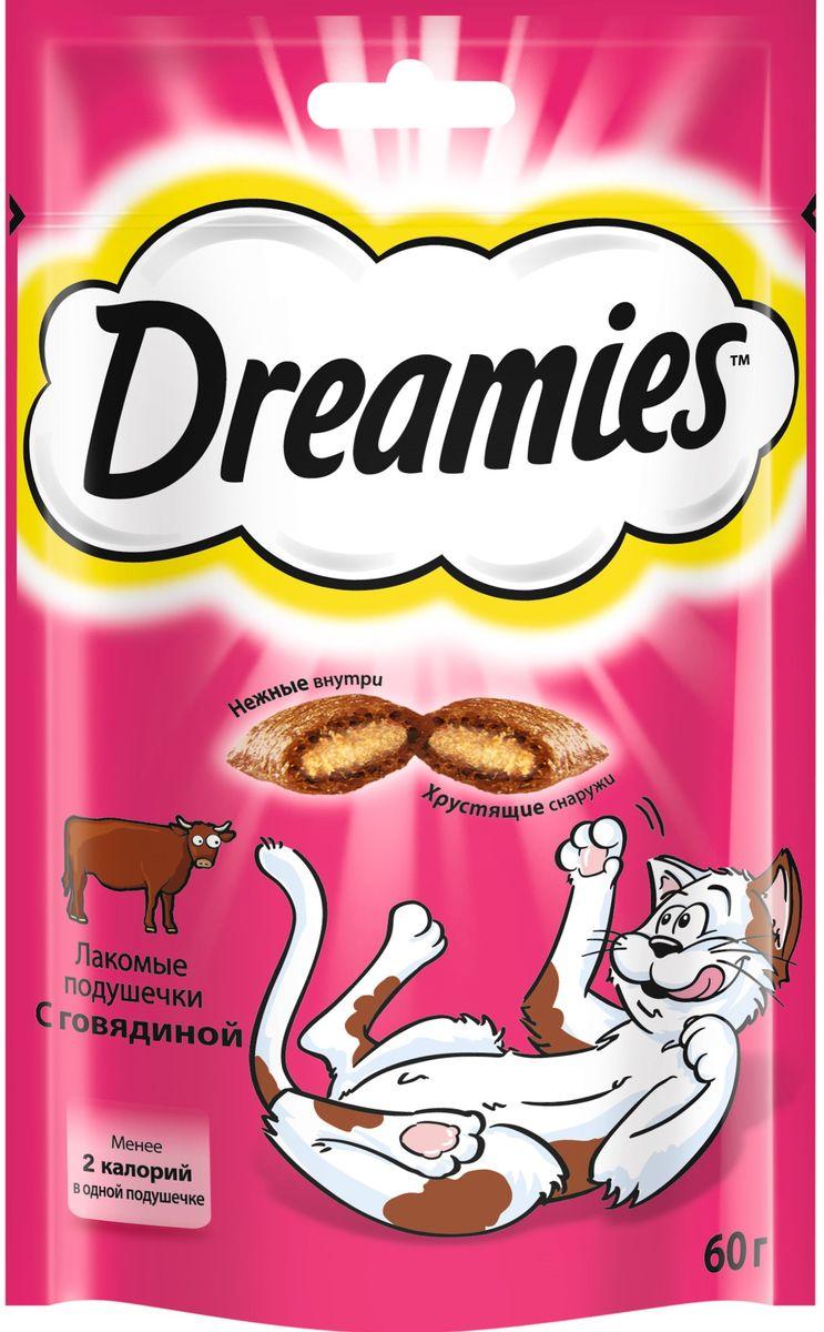 Лакомство для взрослых кошек Dreamies, подушечки с говядиной, 60 г36934Лакомство Dreamies - это сказочное лакомство, выполненное в виде хрустящих подушечек с вкусной начинкой, является добавкой к ежедневному рациону кошки. Обогащено витаминами и минералами. Незабываемая нежная говядина в хрустящей вкусной подушечке - это достойная награда вашему любимому зверю. Состав: белковые растительные экстракты, злаки, мясо и субпродукты (включая 4% говядины), масло и жиры, витамины и минеральные вещества. Пищевая ценность в 100 г: белки - 34 г, жиры - 20 г, зола - 9,5 г, клетчатка - 1 г, влага - 10 г, витамин А - 530,5 МЕ, витамин Е - 8,8 мг, витамин В1 - 1,5 мг, витамин В2 - 0,7 мг, витамин В6 - 0,6 мг, витамин D3 - 58,5 МЕ, пентагидрат сульфата меди - 2,3 мг, моногидрат сульфата марганца- 4,5 мг, йодид калия - 0,2 мг, моногидрат сульфата цинка - 19,9 мг. Вес: 60 г. Энергетическая ценность в 100 г: 386 ккал. Товар сертифицирован.