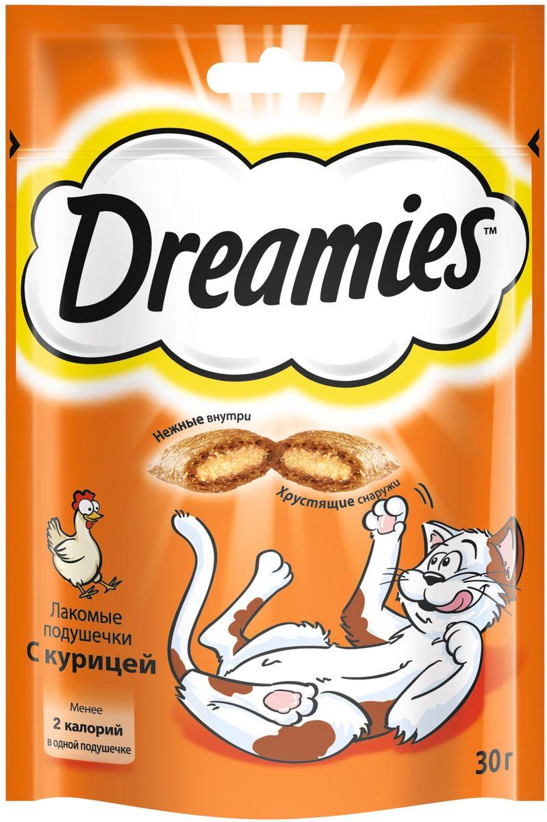 Лакомство для взрослых кошек Dreamies, подушечки с курицей, 30 г37737Лакомство Dreamies - это сказочное лакомство, выполненное в виде хрустящих подушечек с вкусной начинкой, является добавкой к ежедневному рациону кошки. Обогащено витаминами и минералами. Незабываемая нежная курочка в хрустящей вкусной подушечке - это достойная награда вашему любимому зверю. Состав: белковые растительные экстракты, злаки, мясо и субпродукты (включая 4% курицы), масло и жиры, витамины и минеральные вещества. Пищевая ценность в 100 г: белки - 34 г, жиры - 20 г, зола - 9,5 г, клетчатка - 1 г, влага - 10 г, витамин А - 528,8 МЕ, витамин Е - 8,8 мг, витамин В1 - 1,5 мг, витамин В2 - 0,7 мг, витамин В6 - 0,6 мг, витамин D3 - 58,3 МЕ, пентагидрат сульфата меди - 2,1 мг, моногидрат сульфата марганца- 4,3 мг, йодид калия - 0,2 мг, моногидрат сульфата цинка - 19,4 мг. Вес: 30 г. Энергетическая ценность в 100 г: 386 ккал. Товар сертифицирован.