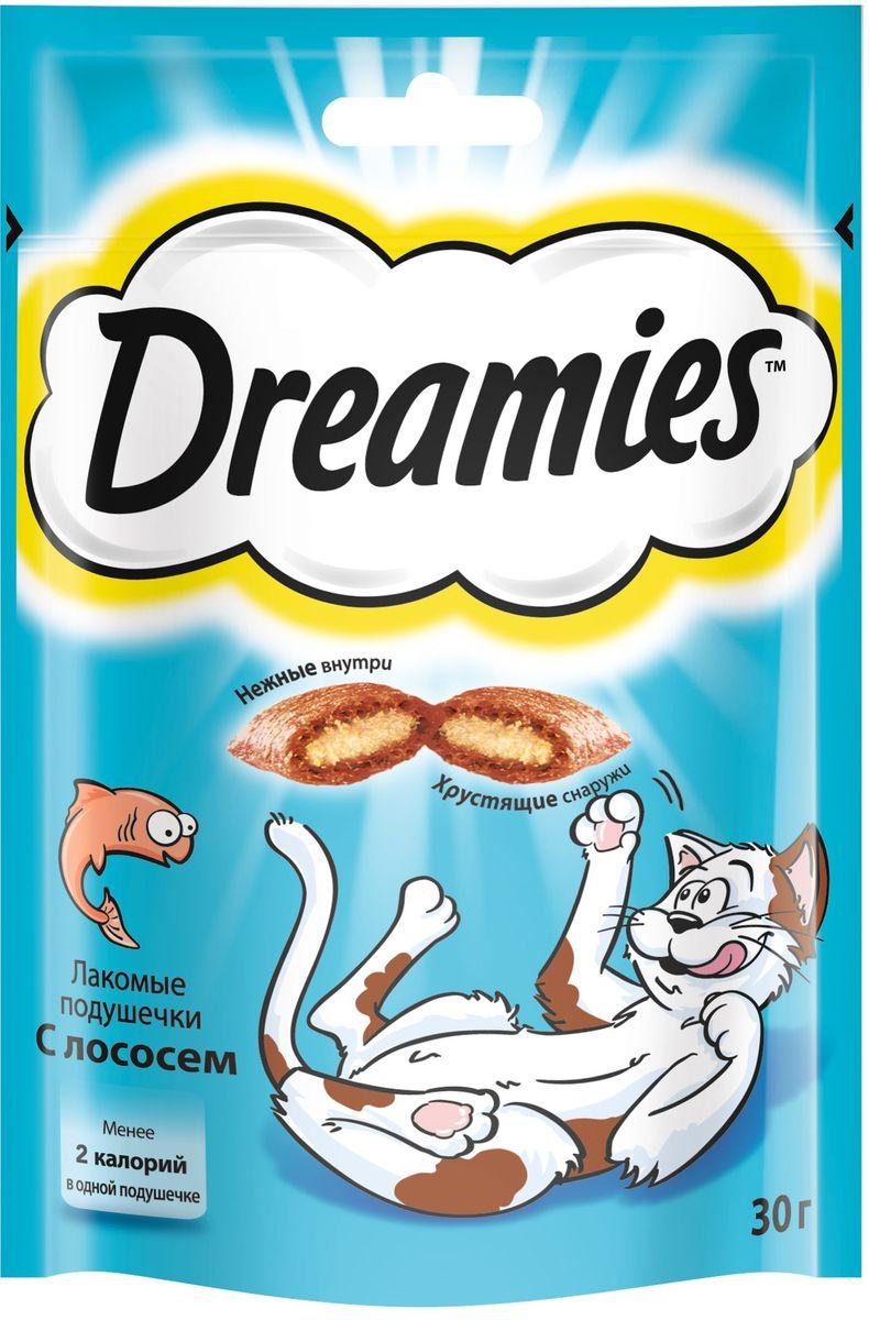 Лакомство для взрослых кошек Dreamies, подушечки с лососем, 30 г37738Лакомство Dreamies - это сказочное лакомство, выполненное в виде хрустящих подушечек с вкусной начинкой, является добавкой к ежедневному рациону кошки. Обогащено витаминами и минералами. Незабываемый нежный лосось в хрустящей вкусной подушечке - это достойная награда вашему любимому зверю. Состав: белковые растительные экстракты, злаки, мясо и субпродукты (включая 4% говядины), масло и жиры, витамины и минеральные вещества, рыба и субпродукты (включая 4% лосося). Пищевая ценность в 100 г: белки - 34 г, жиры - 20 г, зола - 9,5 г, клетчатка - 1 г, влага - 10 г, витамин А - 528,8 МЕ, витамин Е - 8,8 мг, витамин В1 - 1,5 мг, витамин В2 - 0,7 мг, витамин В6 - 0,6 мг, витамин D3 - 58,3 МЕ, пентагидрат сульфата меди - 2,3 мг, моногидрат сульфата марганца- 4,1 мг, йодид калия - 0,2 мг, моногидрат сульфата цинка - 18,3 мг. Вес: 30 г. Энергетическая ценность в 100 г: 386 ккал. Товар сертифицирован.