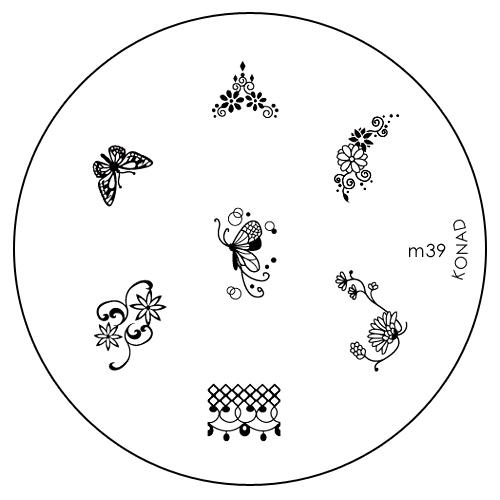 Konad Печатная форма (диск) M39 image plateSC-FM20101Диск для стемпинга. Теперь создавать дизайны на ногтях стало очень просто