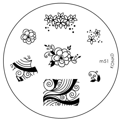 Konad Печатная форма (диск) M51 image plate1301210Диск для стемпинга. Теперь создавать дизайны на ногтях стало очень просто