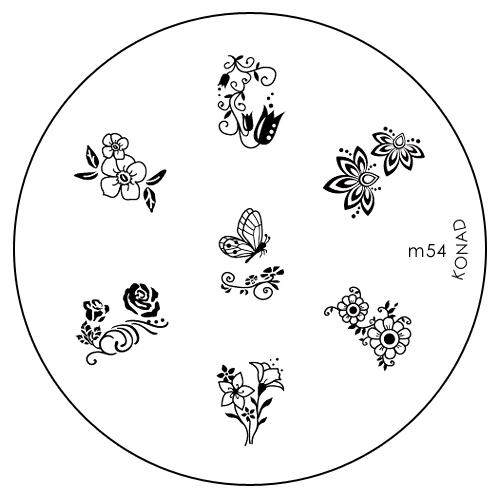 Konad Печатная форма (диск) M54 image plateSN-IPM054Диск для стемпинга. Теперь создавать дизайны на ногтях стало очень просто