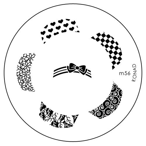 Konad Печатная форма (диск) M56 image plateSN-IPM056Диск для стемпинга. Теперь создавать дизайны на ногтях стало очень просто
