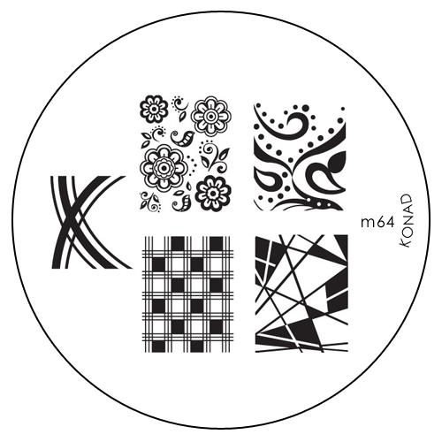 Konad Печатная форма (диск) M64 image plateSN-IPM064Диск для стемпинга. Теперь создавать дизайны на ногтях стало очень просто