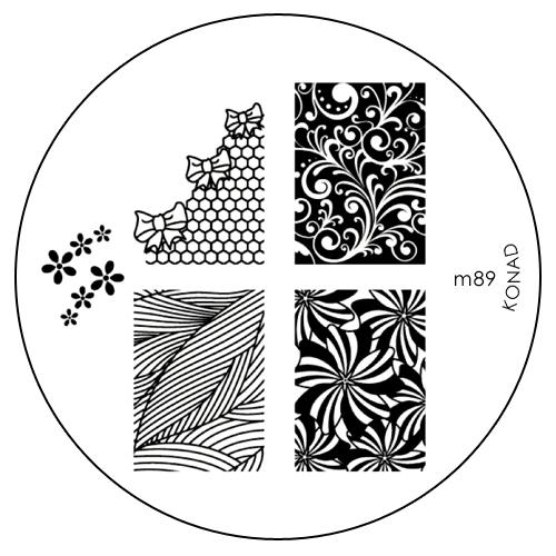 Konad Печатная форма (диск) M89 image plate002722Диск для стемпинга. Теперь создавать дизайны на ногтях стало очень просто