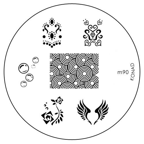 Konad Печатная форма (диск) M90 image plateDB4010(DB4.510)_белоснежкаДиск для стемпинга. Теперь создавать дизайны на ногтях стало очень просто