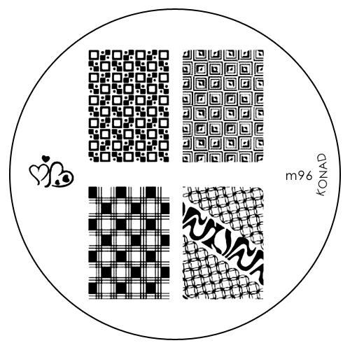 Konad Печатная форма (диск) M96 image plate002722Диск для стемпинга. Теперь создавать дизайны на ногтях стало очень просто