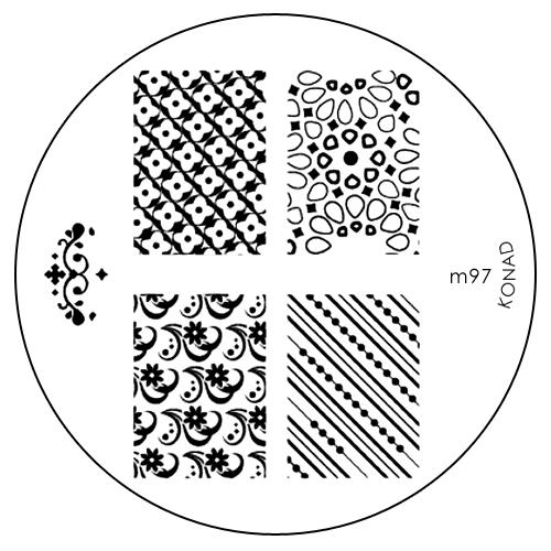 Konad Печатная форма (диск) M97 image plate28420_красныйДиск для стемпинга. Теперь создавать дизайны на ногтях стало очень просто