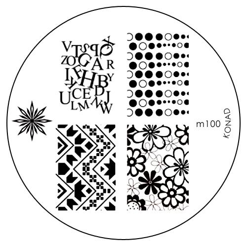 Konad Печатная форма (диск) M100 image plateSN-IPM100Диск для стемпинга. Теперь создавать дизайны на ногтях стало очень просто