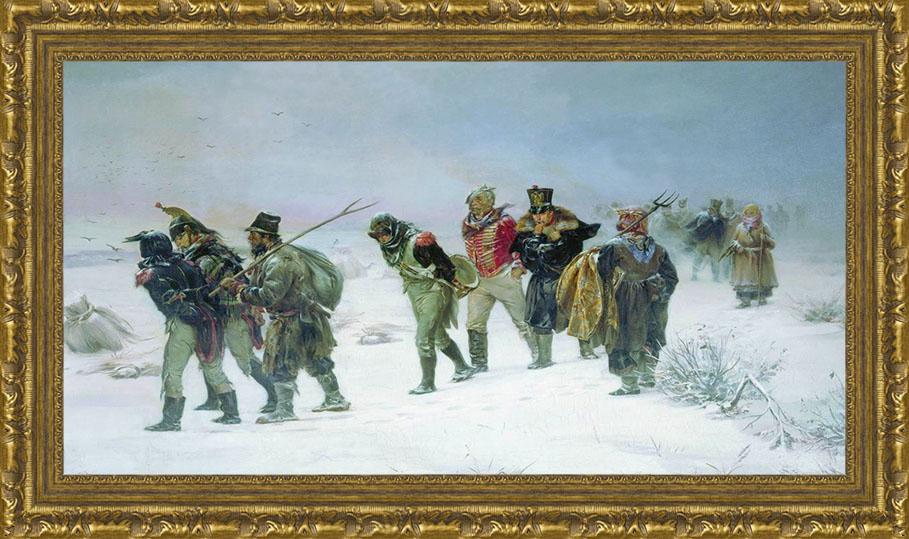 В 1812 году (И.М. Прянишников), 23 x 40 см23x40 OZ085-50601Художественная репродукция картины И.М. Прянишникова В 1812 году Размер постера: 23 см x 40 см. Артикул: 23x40 OZ085-50601.