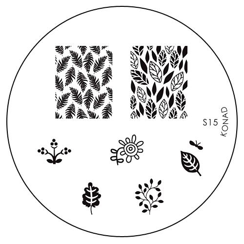 Konad Печатная форма (диск) S15 image plate002722Диск для стемпинга. Теперь создавать дизайны на ногтях стало очень просто