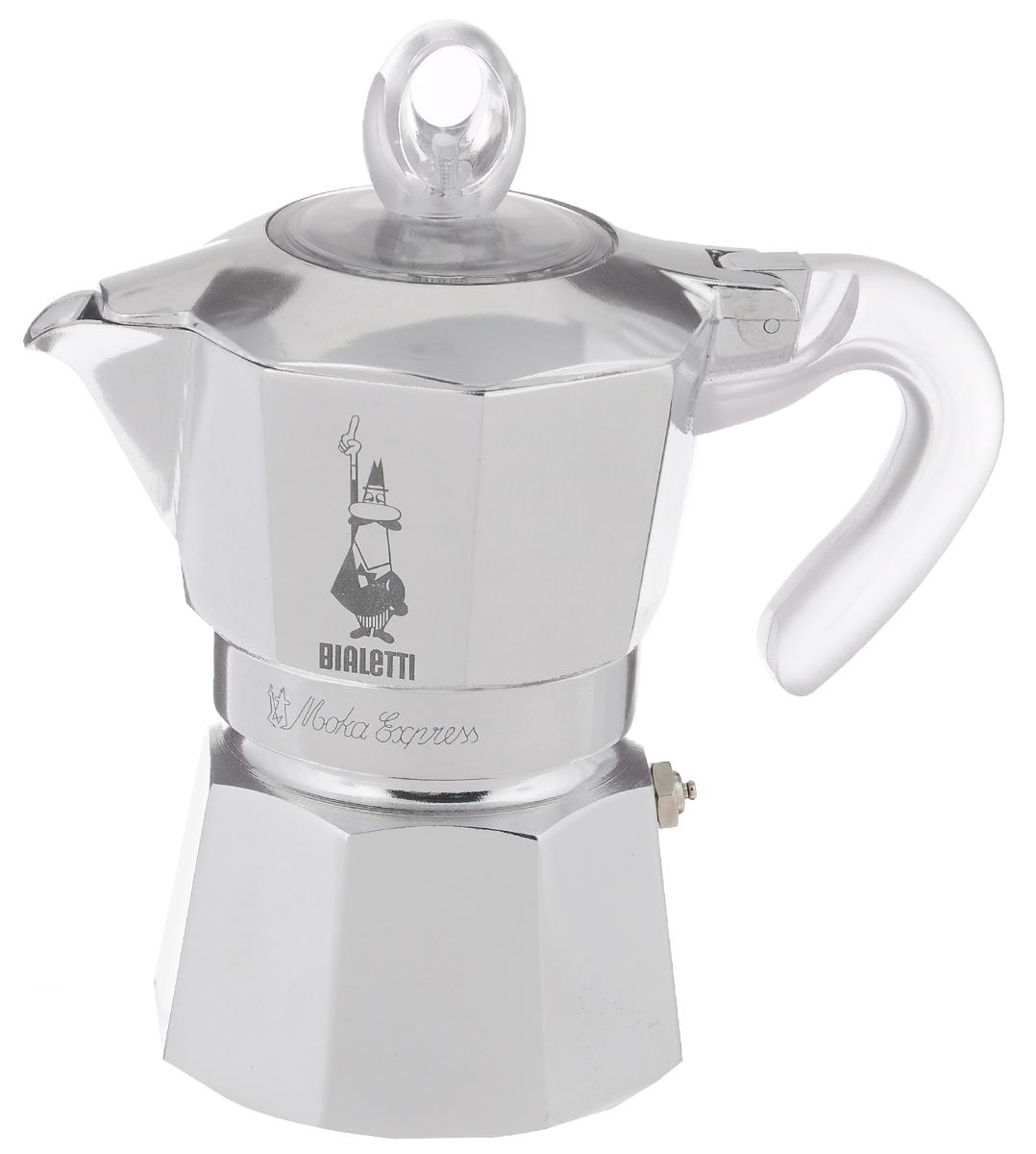 Гейзерная кофеварка Bialetti Moka Glossy, цвет: стальной, на 3 чашки4232Компактная гейзерная кофеварка Bialetti Moka Glossy изготовлена из высококачественного алюминия. Объема кофе хватает на 3 чашки. Изделие оснащено удобной ручкой из пластика. Принцип работы такой гейзерной кофеварки - кофе заваривается путем многократного прохождения горячей воды или пара через слой молотого кофе. Удобство кофеварки в том, что вся кофейная гуща остается во внутренней емкости. Гейзерные кофеварки пользуются большой популярностью благодаря изысканному аромату. Кофе получается крепкий и насыщенный. Теперь и дома вы сможете насладиться великолепным эспрессо. Подходит для газовых, электрических и стеклокерамических плит. Нельзя мыть в посудомоечной машине. Высота (с учетом крышки): 17 см.