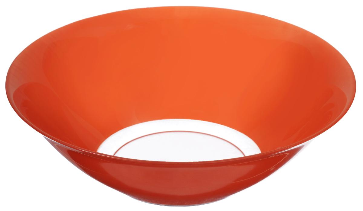 Салатник Luminarc Sunrise, диаметр 27 смH9112Салатник Luminarc Sunrise выполнен из ударопрочного стекла. Яркий дизайн придется по вкусу и ценителям классики, и тем, кто предпочитает утонченность и изысканность. Салатник Luminarc Sunrise идеально подойдет для сервировки стола и станет отличным подарком к любому празднику. Диаметр (по верхнему краю): 27 см. Высота стенки: 9 см.