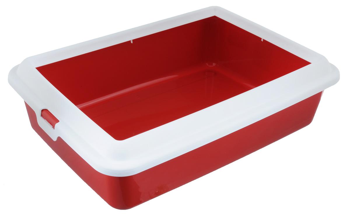 Туалет-лоток для животных MPS Hydra Mini, с рамкой, цвет: красный, 43 см х 31 см х 12 смS08010100Туалет-лоток для животных MPS Hydra Mini выполнен из прочного пластика. Высокие бортики и рама, прикрепленная к лотку, предотвращают разбрасывание наполнителя. Благодаря качественным материалам лоток легко убирается, быстро сохнет и не впитывает посторонние запахи. Товар сертифицирован.