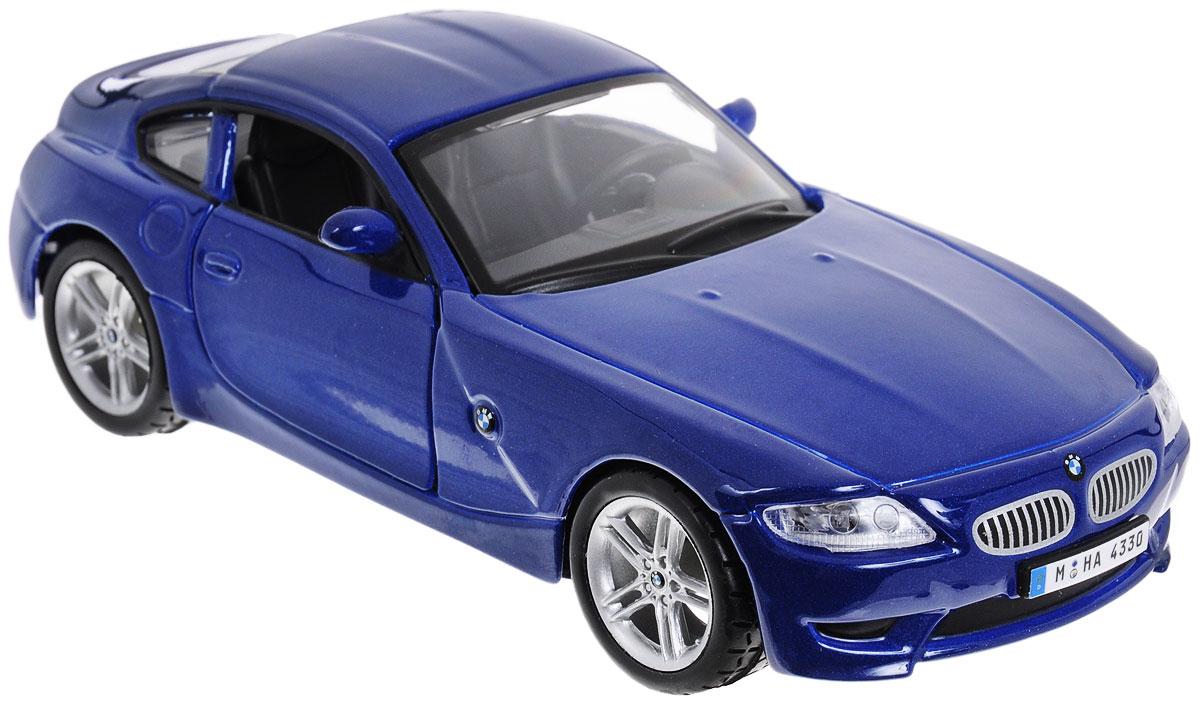 Bburago Модель автомобиля BMW Z4 M Coupe цвет синий модель автомобиля bburago mercedes amg c coupe dtm масштаб 1 32