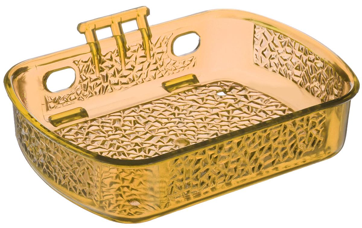 Мыльница Fresh Code, на липкой основе, цвет: светло-оранжевый, 10 см х 13,5 см х 3 смUP210DFМыльница для ванной комнаты Fresh Code выполнена из цветного пластика, декорированного красивым рельефом. Крепление на липкой ленте многократного использования идеально подходит для гладкой поверхности. Такая мыльница прекрасно подойдет для интерьера ванной комнаты.