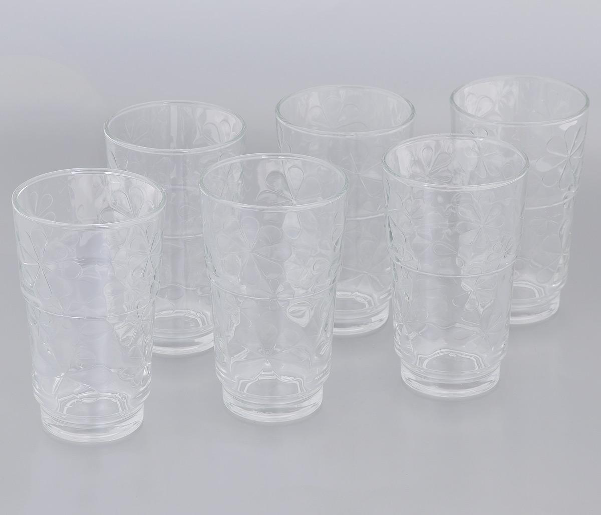 Набор стаканов Luminarc Funny Flowers, 270 мл, 6 штJ1137Набор Luminarc Funny Flowers состоит из 6 стаканов, выполненных из стекла. Они отличаются особой легкостью и прочностью, излучают приятный блеск и издают мелодичный хрустальный звон. Стаканы станут идеальным украшением праздничного стола и отличным подарком к любому празднику. Можно мыть в посудомоечной машине. Диаметр стакана (по верхнему краю): 7,2 см. Высота: 12 см.