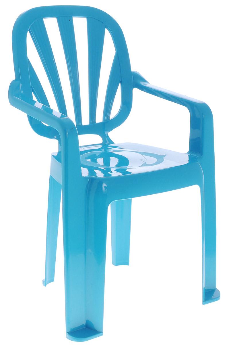 Idea Стульчик детский Арлекино цвет бирюзовыйМ 2289_бюризовыйДетский стульчик Idea Арлекино выполнен из высококачественного пластика. Прочный и удобный, без острых углов, легко транспортируемый стул прослужит вам долгие годы. Сиденье стульчика оформлено рельефным изображением в виде дельфинов. Надежная опора ножек предотвращает опрокидывание стула. Детский стул Idea Арлекино порадует вашего ребенка.