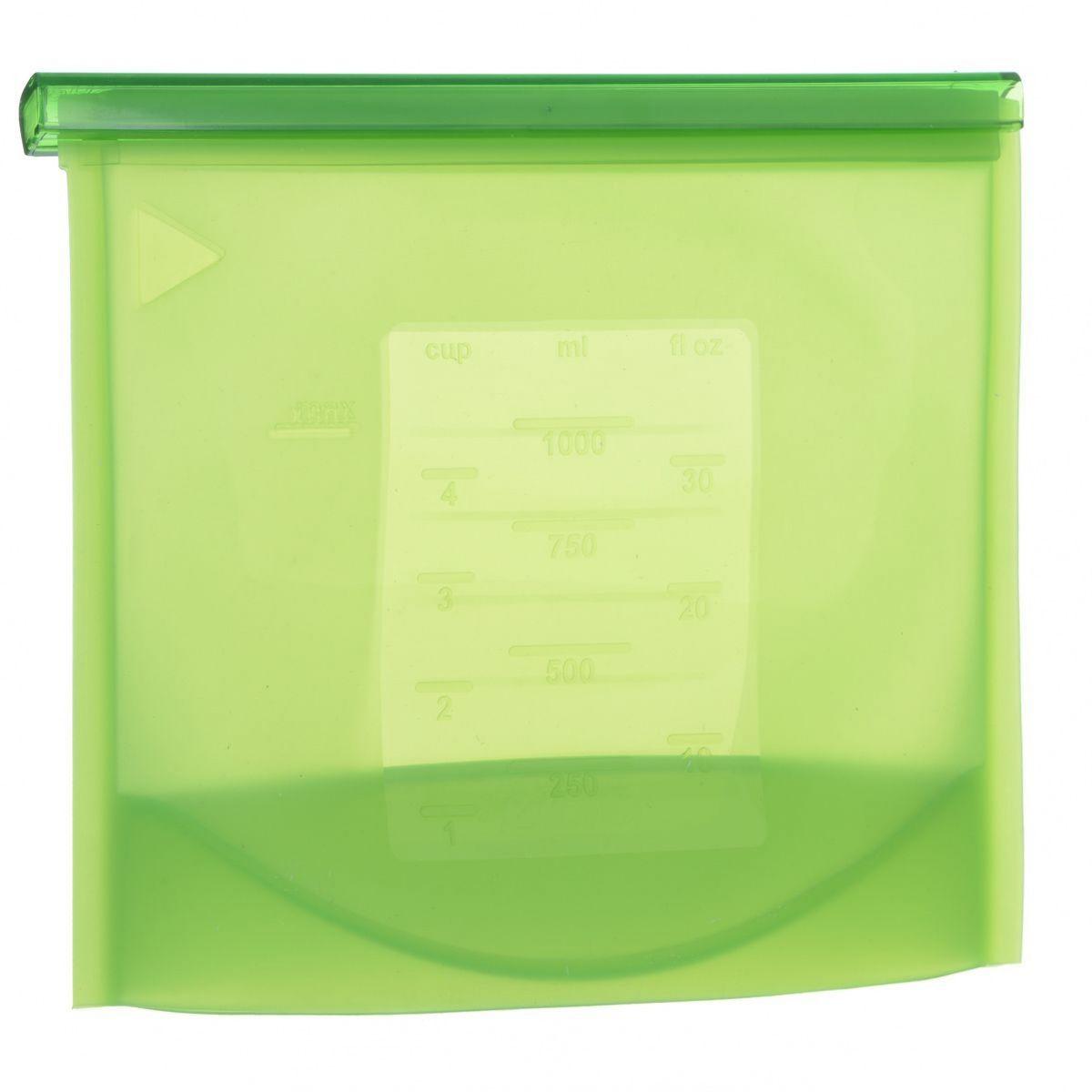 Пакет-контейнер Bradex, силиконовый, 21 х 10 х 18 смTK 0177Многофункциональный силиконовый пакет-контейнер Bradex - это ультрасовременный подход к хранению и приготовлению пищи. Пакет-контейнер выдерживает температуры заморозки до -60°С и разогрева до +220°С. В нем можно замораживать, разогревать и даже готовить вкусные и полезные блюда в микроволновой печи и на пару. Специальная застежка делает пакет абсолютно герметичным, теперь вы сможете забыть о неприятном запахе в холодильнике, а все содержимое будет храниться гораздо дольше. Преимущества: - подходит для хранения фруктов, овощей, ягод, мяса, рыбы и даже жидкостей; - надежная застежка делает пакет-контейнер абсолютно герметичным; - блюда, приготовленные в пакете-контейнере, сохраняют все свои питательные и вкусовые свойства; - пригоден для транспортировки готовых блюд или полуфабрикатов; - позволяет рационально задействовать пространство холодильной и морозильной камер; - на пакете можно сделать надпись маркером, которая легко...