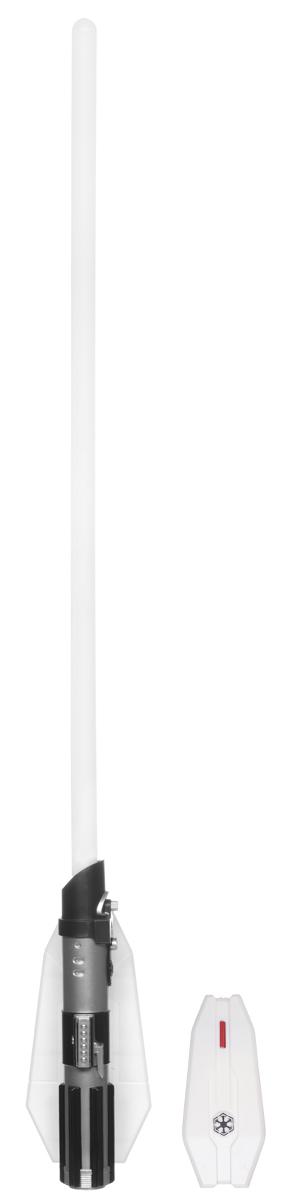 Star Wars Светильник Световой меч Дарта Ведера15048Светильник Star Wars Световой меч Дарта Вейдера непременно понравится любому поклоннику Звездных войн, и украсит интерьер вашего дома. Меч является точной копией оружия Дарта Вейдера - одного из главных героев эпопеи Звездные Войны. Световой меч станет великолепным украшением комнаты любого поклонника знаменитой космической саги. Меч дополнен звуковыми эффектами и светится приятным красным цветом, не раздражает глаза и прекрасно подходит на роль ночника. Благодаря входящему в комплект пульту дистанционного управления, вы сможете включать и выключать светильник не вставая с кровати. В комплект входят все элементы для сборки меча-светильника, это поможет ребенку не только создать оригинальный ночник своими руками, но и познакомиться с основами моделирования и электроники. Необходимо докупить 5 батареек напряжением 1,5V типа ААА (не входят в комплект).