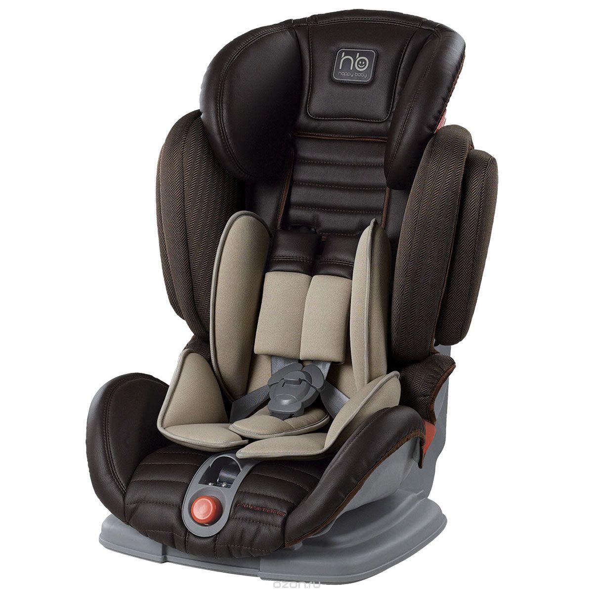 Happy Baby Автокресло Mustang Brown цвет темно-коричневый 9-36 кг4690624016721Стильное и комфортное автокресло Happy Baby Mustang Brown предназначено для детей весом от 9 до 36 килограмм, группы 1/2/3. Кресло имеет прочный каркас и усиленную боковую защиту от ударов. Просторное и комфортное анатомическое сиденье имеет пятиточечные ремни безопасности с мягкими накладками, которые регулируются под рост ребенка. Ремни безопасности автокресла необходимы, пока ребенок не достигнет 5-летнего возраста, далее необходимо пользоваться автомобильными ремнями безопасности. В таком кресле ваш ребенок будет чувствовать себя уютно и безопасно.