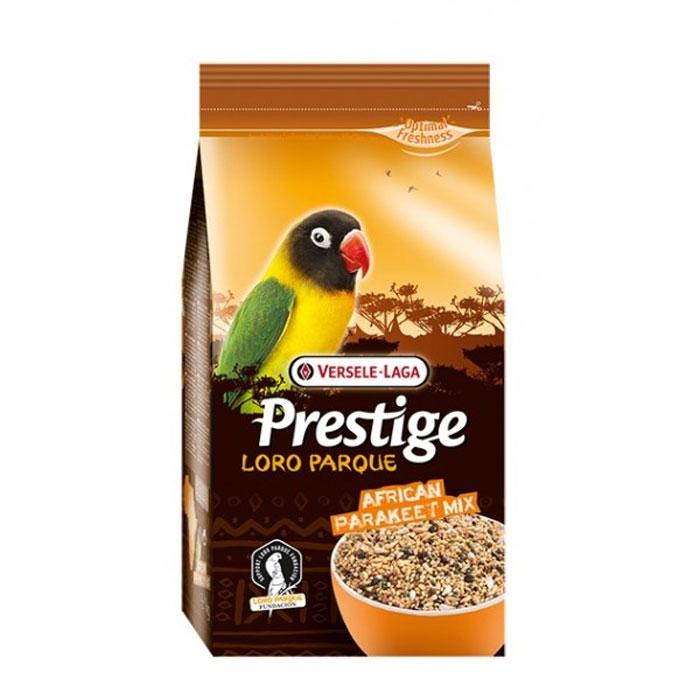 Корм для средних попугаев Versele-Laga African Parakeet Loro Parque Mix, 1 кг0120710Корм для средних попугаев Versele-Laga Prestige Premium African Parakeet Loro Parque Mix изготавливается только из высококачественных семян, которыми этот вид птиц питается в природе. Смесь представляет собой полноценный корм, обогащенный гранулами VAM (витамины, аминокислоты и минералы) для поддержания превосходного здоровья попугаев. Эта адаптированная специально для африканских средних попугаев смесь была разработана совместно с группой ученых из заповедника Loro Parque (остров Тенерифе), где она успешно используется в качестве основного корма для неразлучников и других средних попугаев африканских видов. Коллекция Loro Parque включает в себя 3 тысячи попугаевых и представляет собой самую большую коллекцию попугаев в мире.Суточная норма кормления: указана на упаковке. Птица должна иметь постоянный доступ к свежей чистой питьевой воде. Давайте корм только комнатной температуры. Корм следует хранить в сухом прохладном месте в упаковке производителя.Состав: желтое просо, канареечное семя, белое просо, очищенный овес, гранулы VAM, японское просо, семена сафлора, гречиха, рис-сырец, овес, семена конопли, семена льна, раковины устриц.Анализ состава: протеин 14%, жир 10%, клетчатка 7%, зола 6%, кальций 0,9%, фосфор 0,3%.Добавки на кг: витамин А 6000МЕ, витамин D3 1200МЕ, витамин Е 14 мг.Вес: 1 кг.Товар сертифицирован.