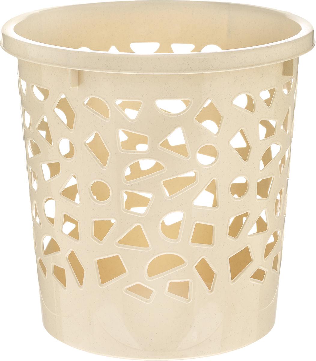 Корзина для мусора Бытпласт, цвет: бежевый, высота 26 смUP210DFКорзина для мусора Бытпласт, изготовлена из высококачественного пластика. Вы можете использовать ее для выбрасывания разных пищевых и не пищевых отходов. Корзина имеет отверстия на стенках и сплошное дно. Корзина для мусора поможет содержать ваше рабочее место в порядке.Диаметр (по верхнему краю): 26 см.Высота: 26 см.