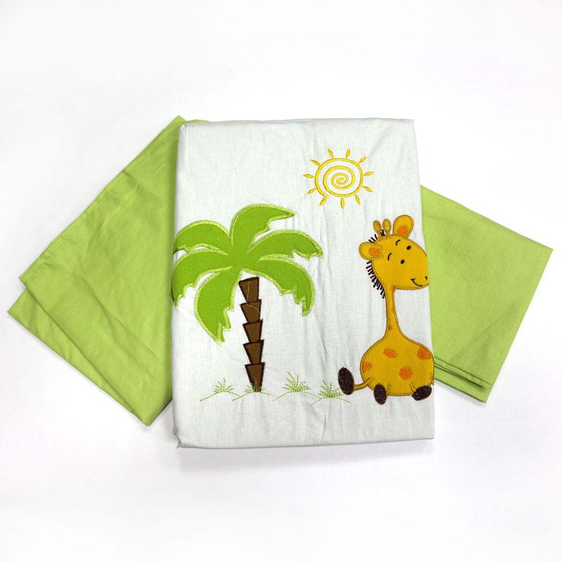 Топотушки Комплект детского постельного белья Оазис цвет зеленый