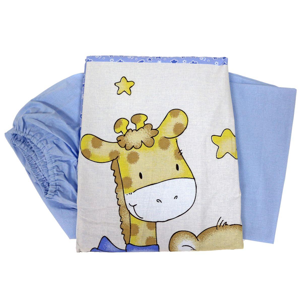 Топотушки Комплект детского постельного белья Детский Мир цвет голубой 3 предмета