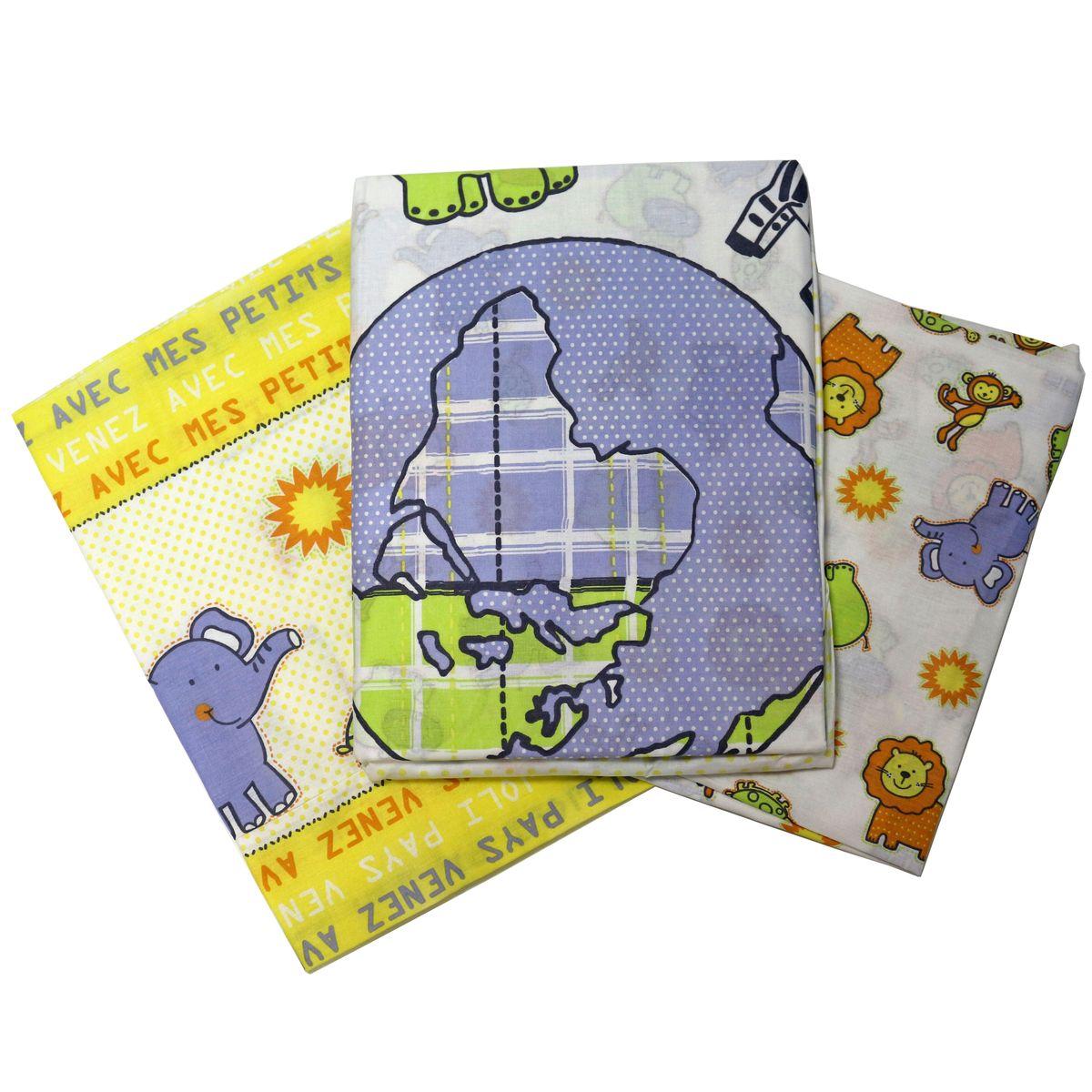 Топотушки Комплект детского постельного белья Африка цвет белый желтый 3 предмета