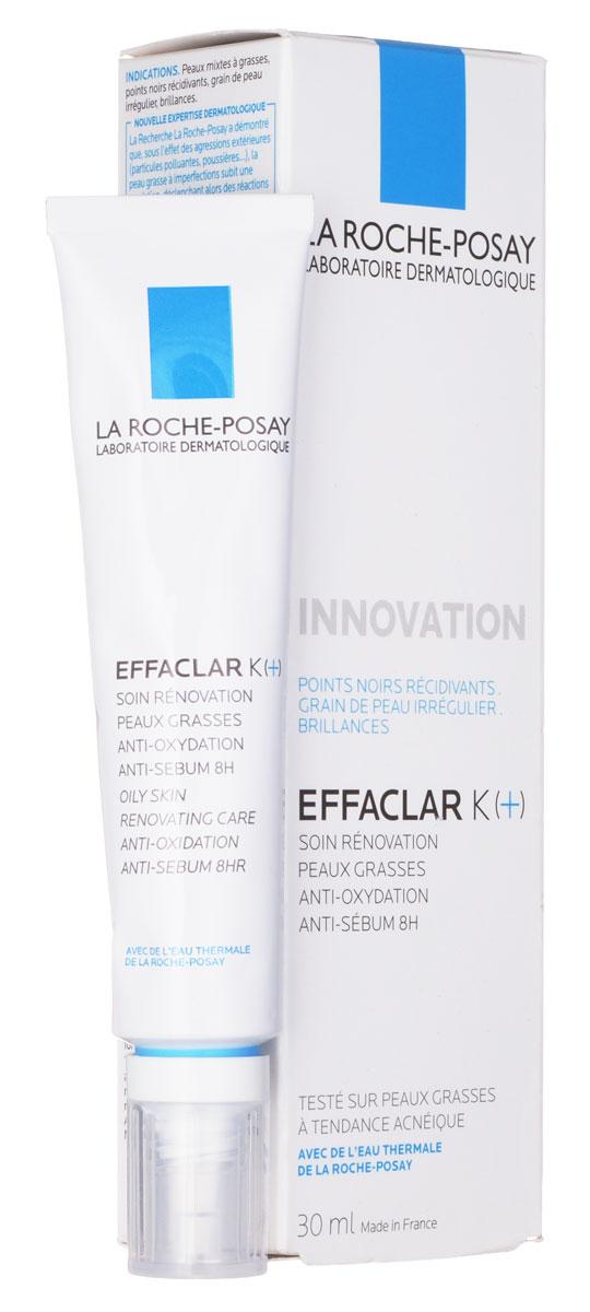 La Roche-Posay Effaclar К+ Эмульсия 30 млБ33041Свойства: ИННОВАЦИЯ La Roche-Posay: АНТИОКСИДАНТНОЕ действие для предотвращения окисления кожного сала. Впервые средство для ежедневного ухода EFFACLAR K(+) сочетает в себe Липо-Гидрокси-Кислоту, обладающую микроотшелушивающимдействием, и комплекс [Витамин Е + Карнозин + AIRLICIUM™] с антиоксидативным и себорегулирующим действием в течение 8 часов. Некомедогенно. Результат: c первого применения появляется ощущение чистоты и свежести, которое сохраняется весь день. Всего за 1 месяц кожа преображается: рельеф кожи более ровный, поры очищены и сужены, жирный блеск под контролем. Обладает доказанным антирецидивным действием в отношении повторного появления несовершенств кожи и черных точек. Рекомендации по использованию: Наносить утром и/или вечером на кожу лица. Избегать области вокруг глаз. Является превосходной основой под макияж.