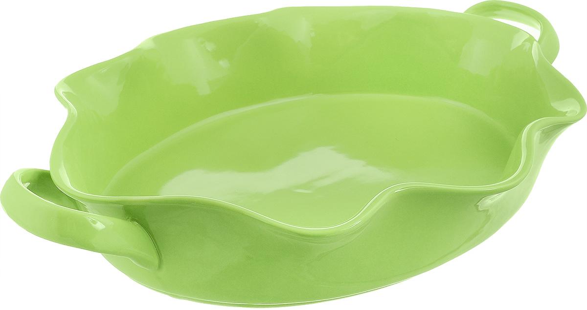 Форма для выпечки Frybest Provance, овальная, цвет: зеленый, 44 х 28 х 8 см94672Овальная форма для выпечки Frybest Provance изготовлена из экологически чистой глазурованной керамики, не выделяет вредных химических веществ во время готовки. Форма равномерно нагревается и долго сохраняет тепло, за счет чего блюда получаются изумительно нежными и сочными и сохраняют все витамины и микроэлементы. 180°С - оптимальная температура для медленного томления.Форма имеет волнистые края, высокие стенки и две удобные ручки. Идеально подходит для семейных ужинов и праздников, эта форма станет хорошим украшением стола - готовое блюдо не нужно перекладывать в другую посуду. Форма подходит для приготовления блюд в духовке (до 180°С) и микроволновой печи, можно мыть в посудомоечной машине. Внутренний размер формы: 38 х 28 см. Размер формы (с учетом ручек): 44 х 28 см. Высота стенки: 8 см.