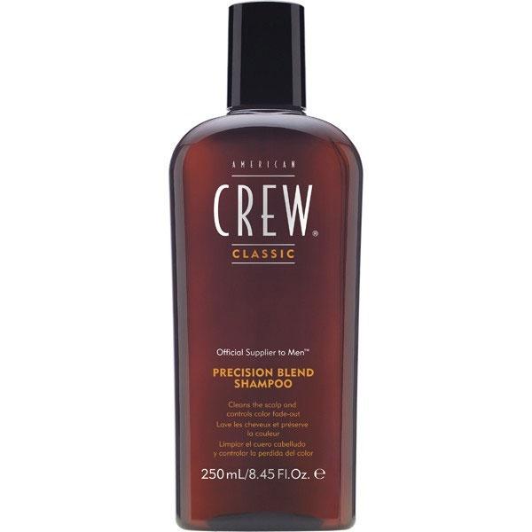 American Crew Шампунь для окрашенных волос Precision Blend Shampoo 250 мл7204482000Шампунь для окрашенных волос создан специально для очищения и кондиционирования окрашенных седых волос. Революционная формула шампуня Precision Blend, разработанная специально для мужчин, содержит много питательных веществ, таких как экстракт листьев розмарина, аминокислоты пшеницы а также УФ-фильтры и полифенолы, которые предотвращают образование свободных радикалов и удерживают пигмент в волосах. Сочетание этих активных компонентов позволяет надолго сохранить яркость окрашенных волос. Шампунь для окрашенных волос Precision Blend сделает ваши волосы мягкими и послушными, защитит их от вредного воздействия солнечных лучей. Ваши волосы всегда будут блестящие, ухоженные и полные цвета.