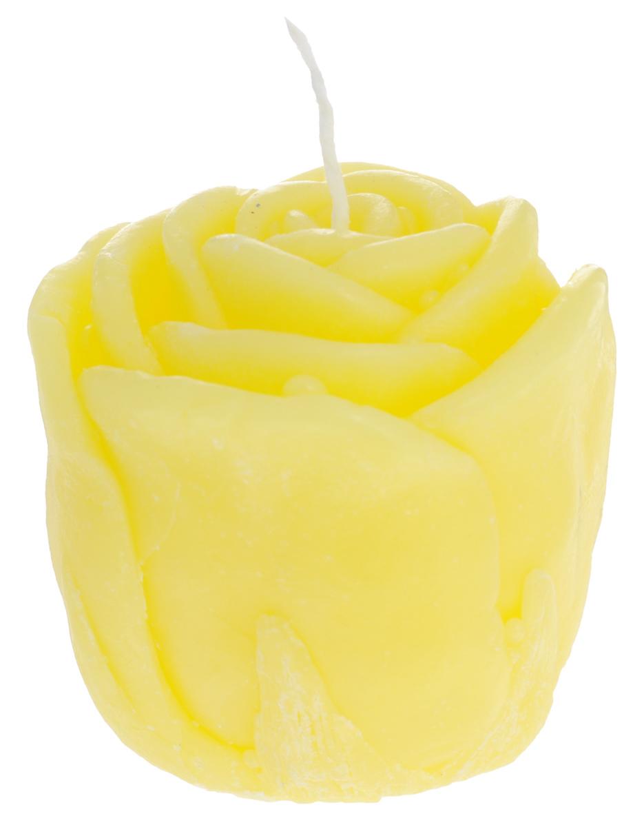 Свеча декоративная Proffi Home Малая роза, цвет: желтый, 5 х 5 х 6 смPH5918Декоративная свеча Proffi Home Малая Роза изготовлена из парафина и стеарина, а фитиль из хлопка. Изделие выполнено в виде розы. Предназначена для освещения и украшения помещений. Такая свеча может стать отличным подарком или дополнить интерьер вашей спальни или гостиной.
