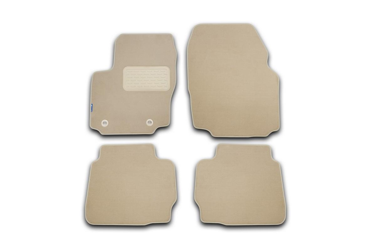 Набор автомобильных ковриков Novline-Autofamily для Ford Mondeo 2011-2014, седан, в салон, цвет: бежевый, 4 шт. NLT.16.33.11.112khNLT.16.33.11.112khНабор автомобильных ковриков Novline-Autofamily, изготовленный из текстиля, состоит из 4 ковриков, которые учитывают все особенности каждой модели автомобиля и полностью повторяют контуры пола. Текстильные автомобильные коврики для салона произведены из высококачественного материала, который держит форму, прочный и не пачкает обувь. Коврики в салон не только улучшат внешний вид салона вашего автомобиля, но и надежно уберегут его от пыли, грязи и сырости, а значит, защитят кузов от коррозии. Текстильные коврики для автомобиля мягкие и приятные, а их основа из вспененного полиуретана не пропускает влагу. Ковры для автомобилей надежно крепятся на полу и не скользят, что очень важно во время движения. Чистятся коврики очень просто: как при помощи автомобильного пылесоса, так и различными моющими средствами. Набор подходит для Ford Mondeo седан 2011-2014 годов выпуска.