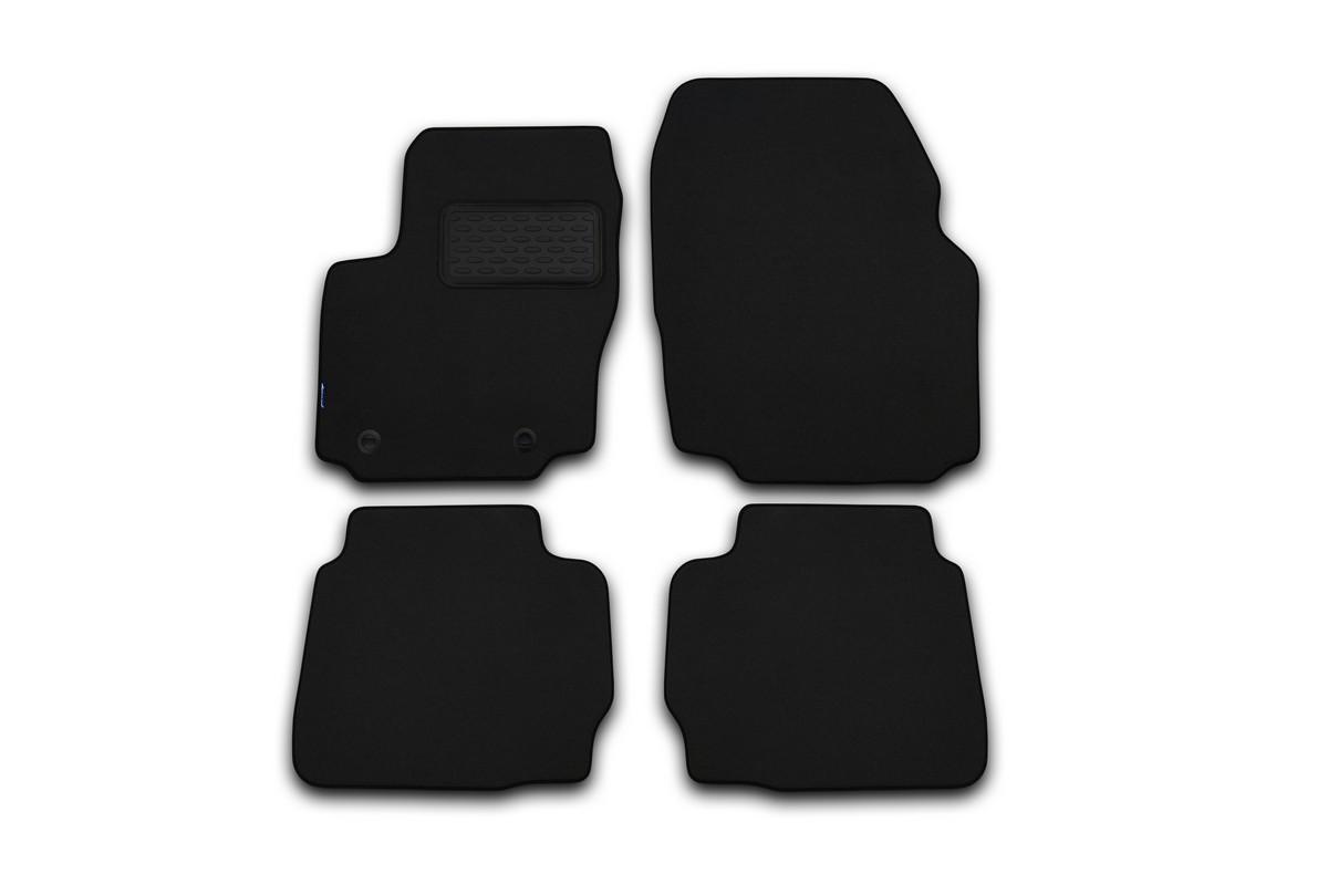 Набор автомобильных ковриков Novline-Autofamily для Jaguar XF 2009-, седан, в салон, цвет: черный, 4 шт. NLT.23.01.22.110khDFS-524Набор автомобильных ковриков Novline-Autofamily, изготовленный из текстиля, состоит из 4 ковриков, которые учитывают все особенности каждой модели автомобиля и полностью повторяют контуры пола. Текстильные автомобильные коврики для салона произведены из высококачественного материала, который держит форму, прочный и не пачкает обувь. Коврики в салон не только улучшат внешний вид салона вашего автомобиля, но и надежно уберегут его от пыли, грязи и сырости, а значит, защитят кузов от коррозии. Текстильные коврики для автомобиля мягкие и приятные, а их основа из вспененного полиуретана не пропускает влагу. Ковры для автомобилей надежно крепятся на полу и не скользят, что очень важно во время движения. Чистятся коврики очень просто: как при помощи автомобильного пылесоса, так и различными моющими средствами. Набор подходит для Jaguar XF седан с 2009 года выпуска.