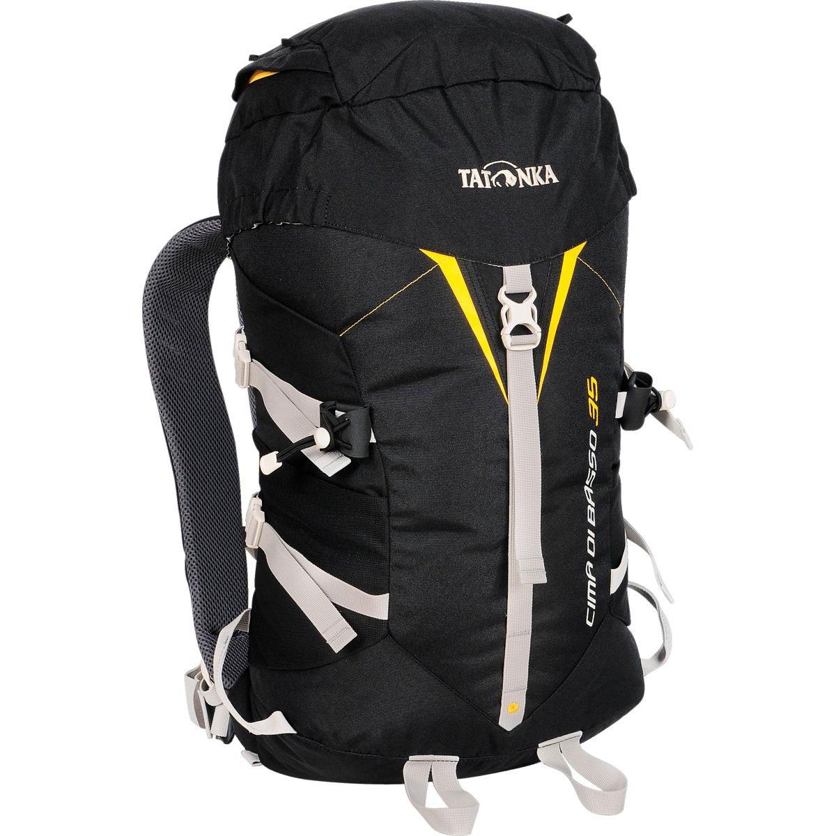 Рюкзак спортивный Tatonka Cima Di Basso, цвет: черный, 35 л1491.040Легкий горный рюкзак Tatonka Cima Di Basso. Отлично подходит для восхождений и короткого треккинга. Подвеска Padded Back и съемный поясной ремень обеспечивают отличную фиксацию рюкзака на спине. Боковые стяжки позволяют закрепить на рюкзаке веревку. Предусмотрено два места для крепления палок или ледоруба. Особенности рюкзака: Система подвески Padded Back Съемный поясной ремень Держатели для ледоруба Клапан в крышке рюкзака Боковые стяжки.