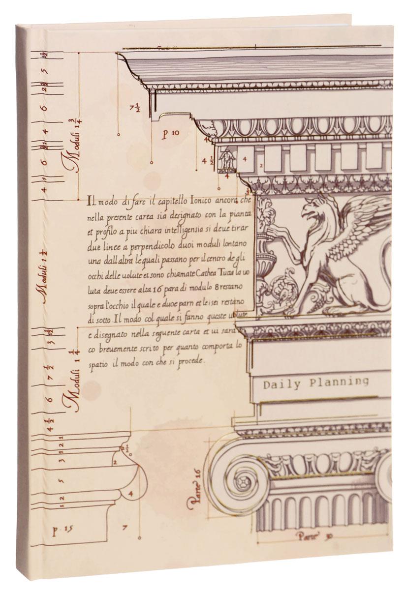Listoff Записная книжка Архитектурный мотив 100 листов в клеткуКЗФ51001759Записная книжка Listoff Архитектурный мотив - незаменимый атрибут современного человека, необходимый для рабочих и повседневных записей в офисе и дома. Записная книжка содержит 100 листов формата А5 в клетку. Обложка, выполненная из ламинированного картона с тиснением золотистой фольгой, украшена иллюстрацией из классического архитектурного трактата. Внутренний блок изготовлен из высококачественной плотной бумаги, что гарантирует чистоту записей и отсутствие клякс. Записная книжка снабжена закладкой-ляссе. На первой странице помещены личные данные владельца. Книга для записей Listoff Архитектурный мотив станет достойным аксессуаром среди ваших канцелярских принадлежностей. Она подойдет как для деловых людей, так и для любителей записывать свои мысли, рисовать скетчи, делать наброски.