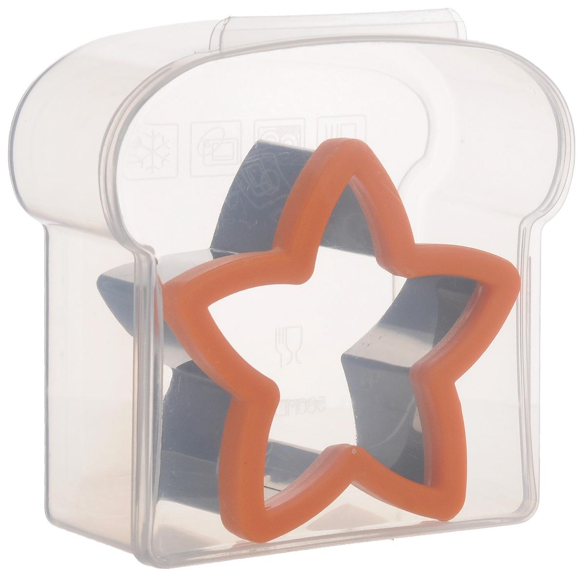 Форма для сэндвича Mayer & Boch Звезда, с контейнером24002Форма для сэндвича Mayer & Boch Звезда изготовлена из нержавеющей стали и пластика. Острая кромка позволяет вырезать фигурки не только из теста, но также из хлеба. Такая форма поможет создавать сэндвичи оригинальной формы и радовать удивительным оформлением всю вашу семью. В комплекте - пластиковый контейнер с герметичной крышкой в форме сэндвича для хранения бутербродов. Можно мыть в посудомоечной машине, не использовать в микроволновой печи. Размеры формы: 10,5 см х 10,5 см х 4,5 см. Размеры контейнера: 14 см х 13,5 см х 5,5 см.