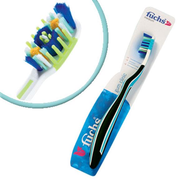 Fuchs Зубная щетка с массажем десен5010777142037Зубная щетка Fuchs Gum clinic для десен,средней жесткости