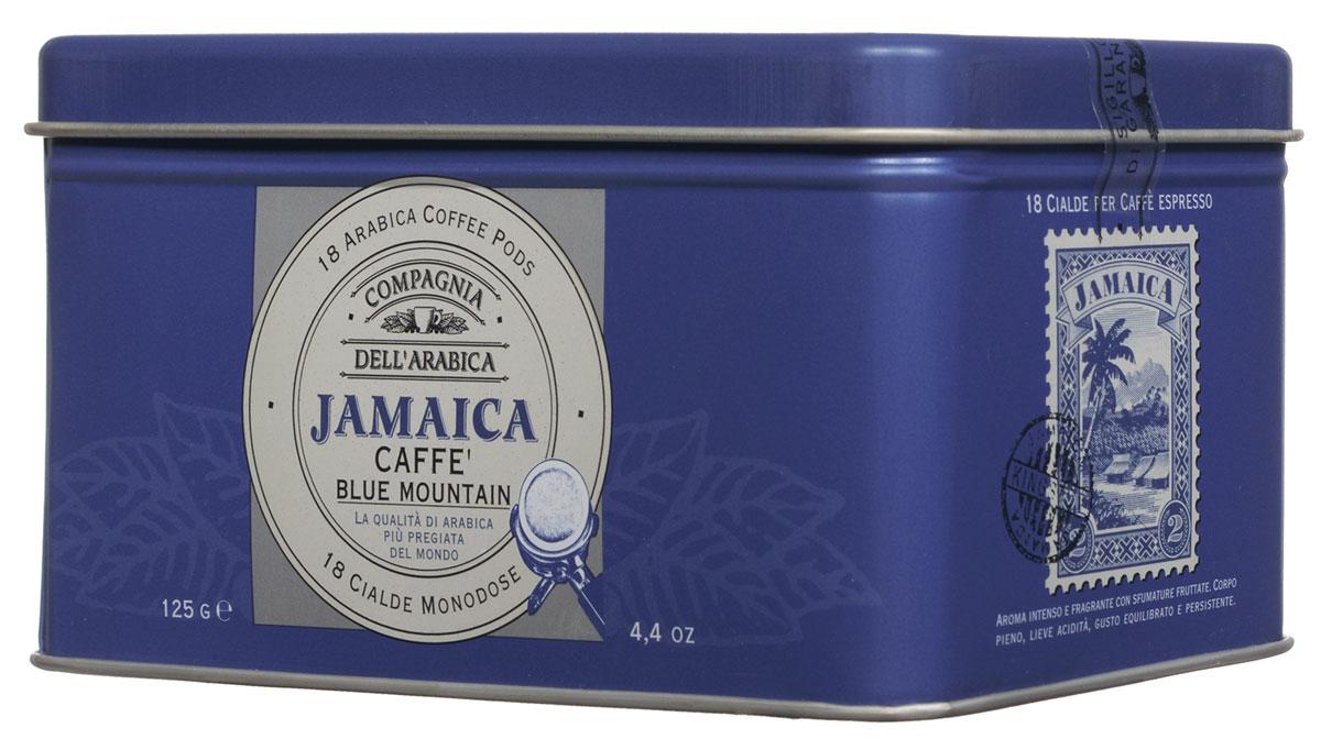 Compagnia DellArabica Jamaica Blue Mountain кофе в чалдах, 18 шт8001684025794Compagnia DellArabica Jamaica Blue Mountain заслуженно считается наиболее элитным из всех существующих сортов кофе. Жемчужина кофейной коллекции Compagnia DellArabica! Содержит в себе нотки Карибского рома, аромат драгоценной ванили, полутона миндаля и какао, а также деликатный намек на бархатный аромат дорого табака. Кофе для приготовления в чалдовых кофемашинах!