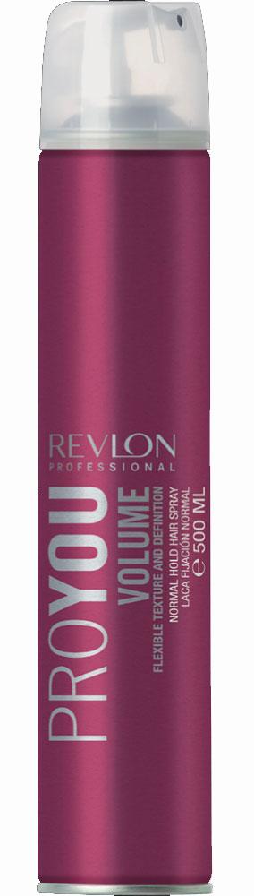 Revlon Professional Pro You Лак для объема нормальной фиксации Volume Hairspray 500 мл7203145000Лак для объема нормальной фиксации Pro You Volume Hairspray позволит Вам сохранить идеальную прическу в течение целого дня! Средство надежно фиксирует форму Ваших волос и дарит ощущения уверенности и силы! Кроме того, Ваши волосы приобретают мощную защиту от негативных факторов внешней среды за счет образования на поверхности волос прозрачной эластичной пленки. В состав лака входит экстракт ростков риса, обладающий очистительным и восстанавливающим действием. Средство не увеличивает натуральный вес волос, легко удаляется при процедуре расчесывания и дарит Вашим волосам сияющий вид и богатство оттенков цвета!
