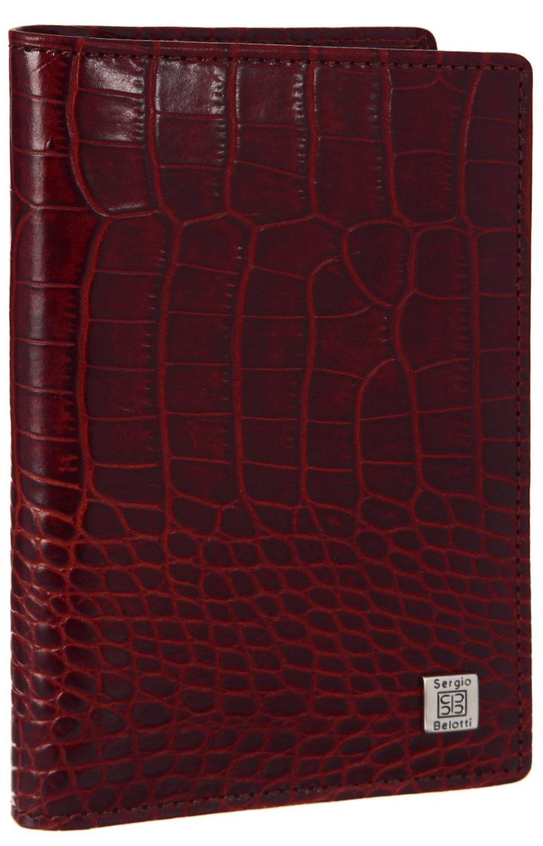 Обложка для автодокументов женская Sergio Belotti, цвет: красный. 1423 1423 modena red