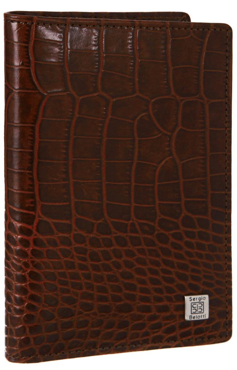 Обложка для автодокументов Sergio Belotti, цвет: коричневый. 1423 1423 modena cognac