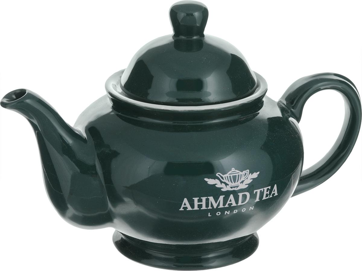 Чайник заварочный Ahmad Tea, цвет: темно-зеленый, 800 млZ454Заварочный чайник Ahmad Tea изготовлен из керамики и покрыт глазурью. Посуда оформлена надписями Ahmad Tea и London. Такой чайник идеально подойдет для заваривания чая. Он хорошо держит температуру, что способствует более полному раскрытию цвета, аромата и вкуса чайного букета. Изделие прекрасно дополнит сервировку стола к чаепитию и станет его неизменным атрибутом. Объем: 800 мл. Размер (по верхнему краю): 9 см х 9 см. Диаметр по верхнему краю (внутренний): 6,5 см. Высота стенки (без учета крышки): 10 см.