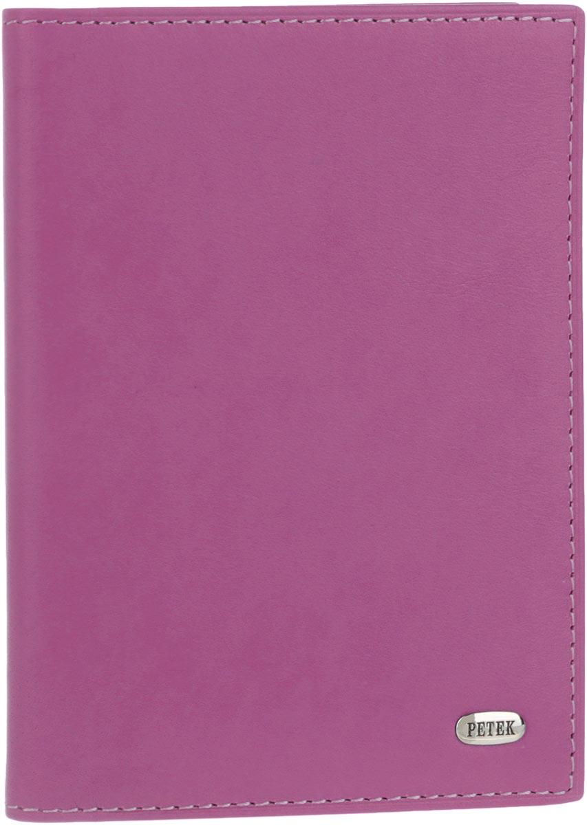 Обложка для автодокументов женская Petek 1855, цвет: пурпурный. 584.167.16584.167.16 PurpleСтильная женская обложка для автодокументов Petek 1855 выполнена из натуральной кожи. Изделие оформлено металлической пластиной с гравировкой бренда. Внутри имеется два боковых кармана, блок из шести прозрачных файлов из мягкого пластика, один из которых формата А5 и четыре прорезных кармана для визиток и пластиковых карт. Такая обложка не только поможет сохранить внешний вид ваших документов и защитит их от повреждений, но и станет стильным аксессуаром, идеально подходящим вашему образу.