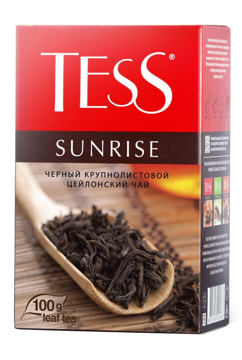 Tess Sunrise черный листовой чай, 100 г0587-15_новая упаковкаTess Sunrise - великолепный пример совершенства природного чайного букета. Благородный крупнолистовой цейлонский чай, выращенный на равнинных плантациях, гармонично сочетает свежий пряный вкус, сдержанную крепость и яркий аромат, характерный для дорогих сортов цейлонского чая.